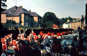 Coldstream Guards Marching along Home Place