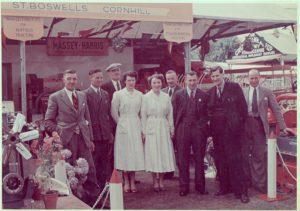 Kelso Show Rutherfords stand.\\r\\n?  W Waddell, J Beveridge, Jean Thompson, John Rutherford, Sandy Scott, ? Adam Scott.