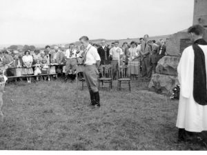 Alaster Marjoribanks at the Flodden Memorial