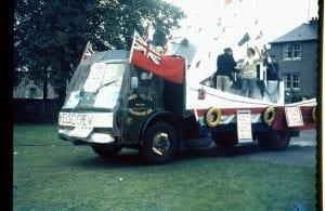 Truck on Fancy Dress parade