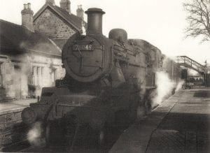 Train at Coldstream Station