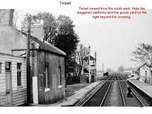 Twizell Station. The last station master was Peter Short. A lovely man !