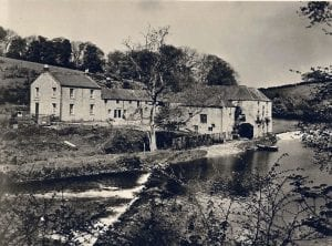 Twizell Mill when it was a very good salmon fishery.