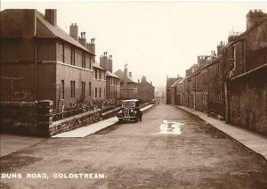 Duns road Coldstream 1950s