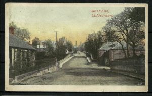 Coldstream West  End looking over the old Leet bridge.
