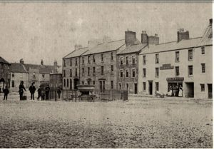 Market Square with the fountain. The Black Bull Inn this was a temperance hotel