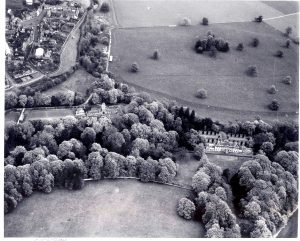 The Lees house from the air