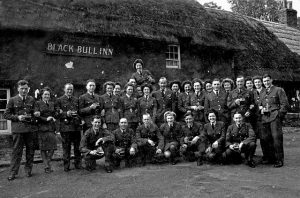 Black Bull Etal sometime during the 2nd World War Airmen from Millfield Aerodrome