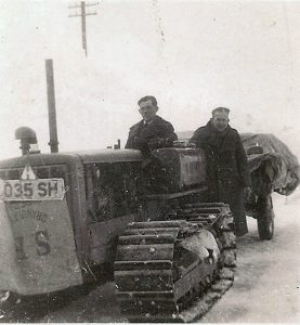 The only way to transport good in 1963 was with a caterpillar tractor