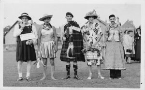 A very early photograph of the fancy dress