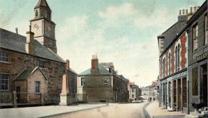 The old Parish Church pre 1900 with railings round it