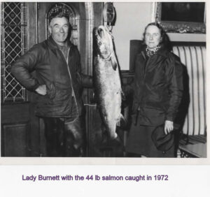 Salmon caught at the Pot Point on the tweed at Twizell Boathouse  1972. With Colin Swan