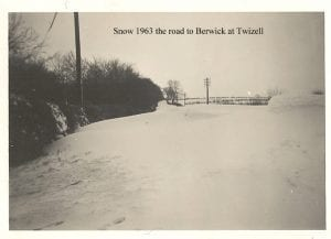 Snow at Twizell Red House 1963