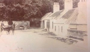 The old marriage house and the Bridge Inn. Very early.