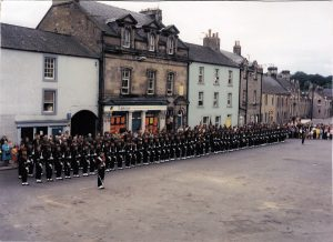 K O S B In the Market Square on parade before getting the Freedom of the Burgh