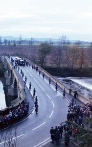 Coldstream Bridge where the Stone of Destiny returned to Scotland with an escort back home