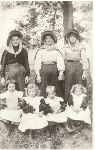 L-R B Johnston; L. Wastle; K. Wastle; A. Fraser; L. Hope; E. Fraser: K. Hope