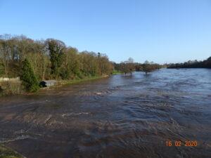 Flood 16-2-  2020 Taken from the Bridge looking east