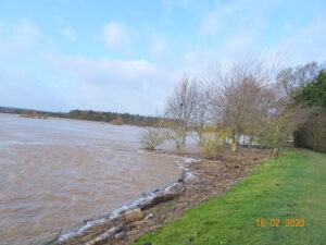 Flood 16-2-  2020 Looking up to Wark