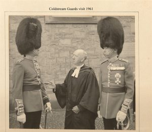 Coldstream Guards 1961 out side the Parish Church