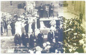 Laying the foundation stone parish Church 1909