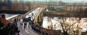 Stone returns over Coldstream Bridge 15th November 1996