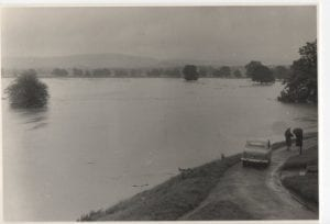 Tweed flood looking over the Lees and Tweed Green 28th Aug 1956