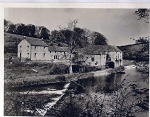 Twizell Mill when it was a Mill and also a Salmon Fishery, The last Miller was Mr Younger.