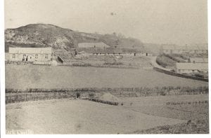 Wark from the Sunilaws road. Looking north the school is the building in the foreground.