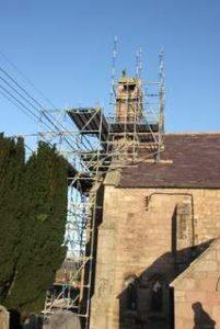 Cornhill Church after a storm 2011