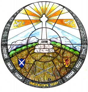 Flodden Window in the Parish Church. Gifted to the Parish Church by the Flodden 1513 Club in 2009