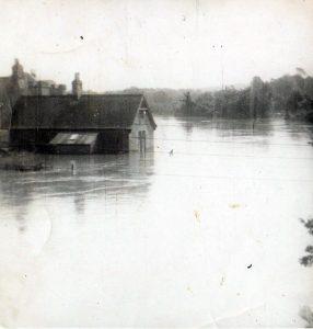 Tweed Flood 1958 From the Leet Bridge