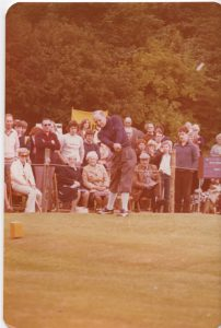 Douglas Bader at the Hirsel Golf Club He was here as the guest for the the 5 counties golf tournament.