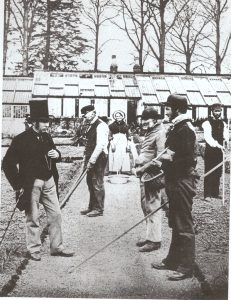 The Head Gardener with his staff in the walled garden at the Hirsel about 1900