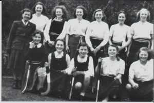 Teacher Miss Ross, left to right back row Eileen Fleming, Dorothy Applelton, Jean Clazie, Flora Ronaldson,Margo Campbell, Isobel Moffat.\\r\\nFront Row Left to Right  Chrissie Kerr, Betty Paterson, Sheena Sim, Dot Kerr, Jean Borthwick