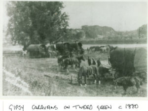 Gypsy caravans on the tweed gree c1880