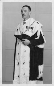 Provost Henderson in his formal robes