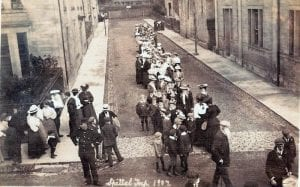 Spittal Trip 1907 The people walked to Cornhill to get the train to Tweedmouth and then walk to Spittal