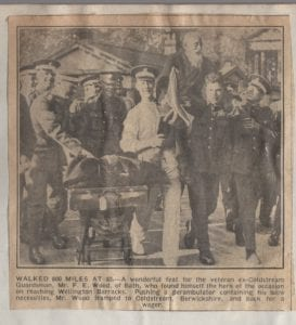 Guardsman F E Wood.