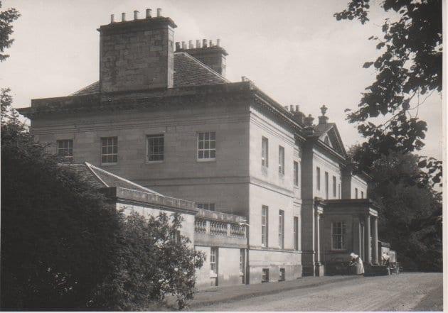 Lees House. with a Nun in the garden
