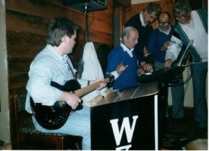 Derick Campbell on the guitar Bob McKenzie on the Key Board