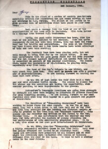 Letters to the Forces 1951 Top part of letter